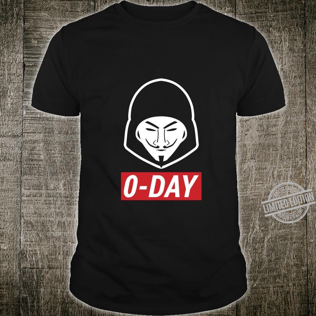 0Day Cooles Computer Hacker Design in RotWeiß Shirt