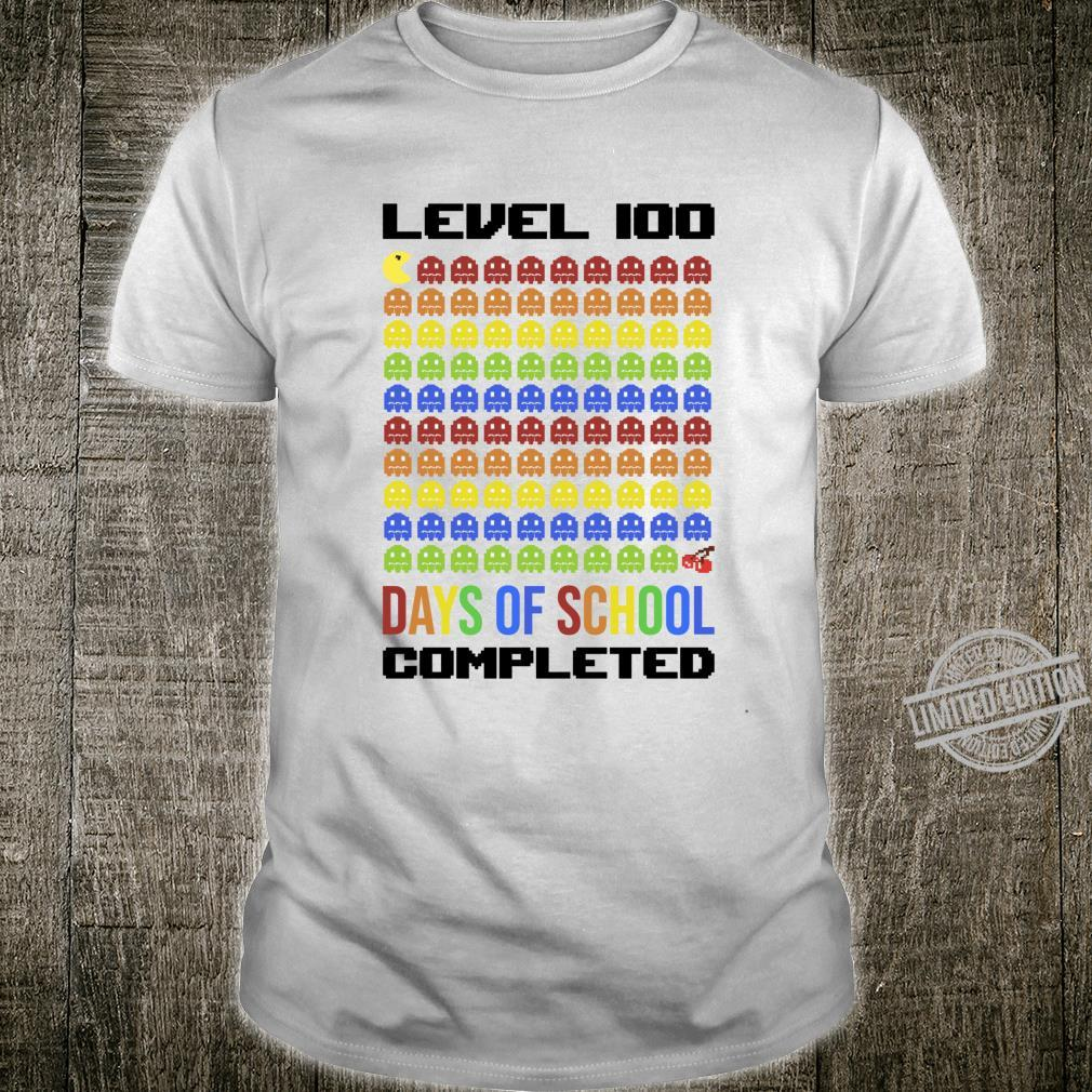 100th Day Of School Gamer For Retro Arcade Gaming Shirt