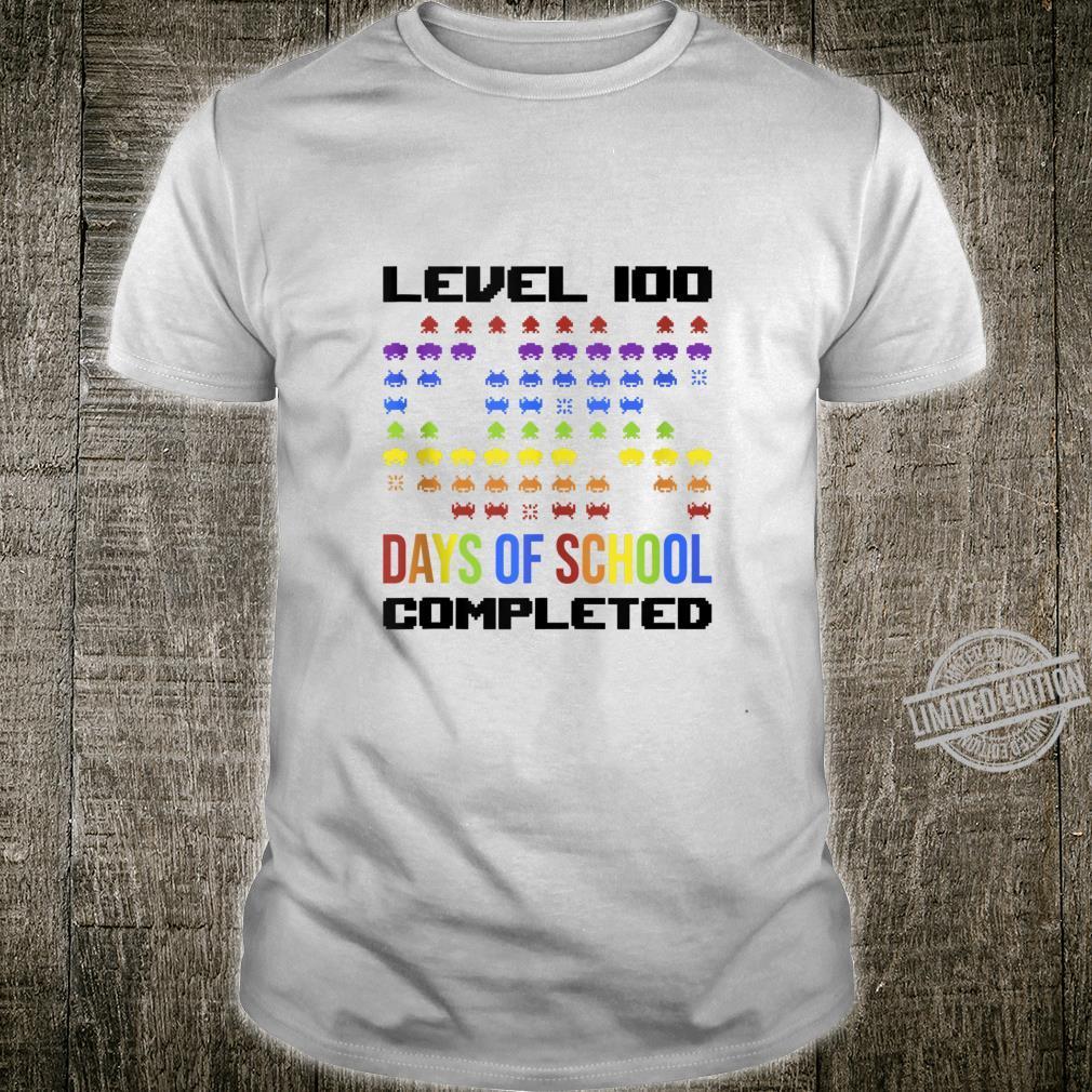 100th Day Preschool Retro Gamer For Teacher Arcade Shirt