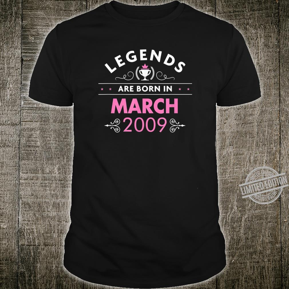 11th Birthday March 2009 The Legend Begins Shirt