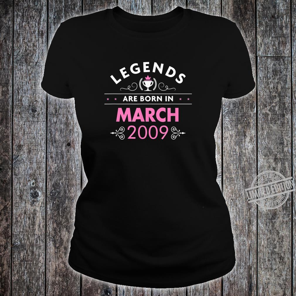 11th Birthday March 2009 The Legend Begins Shirt ladies tee