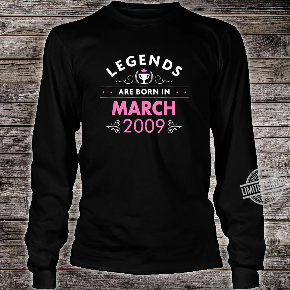11th Birthday March 2009 The Legend Begins Shirt long sleeved