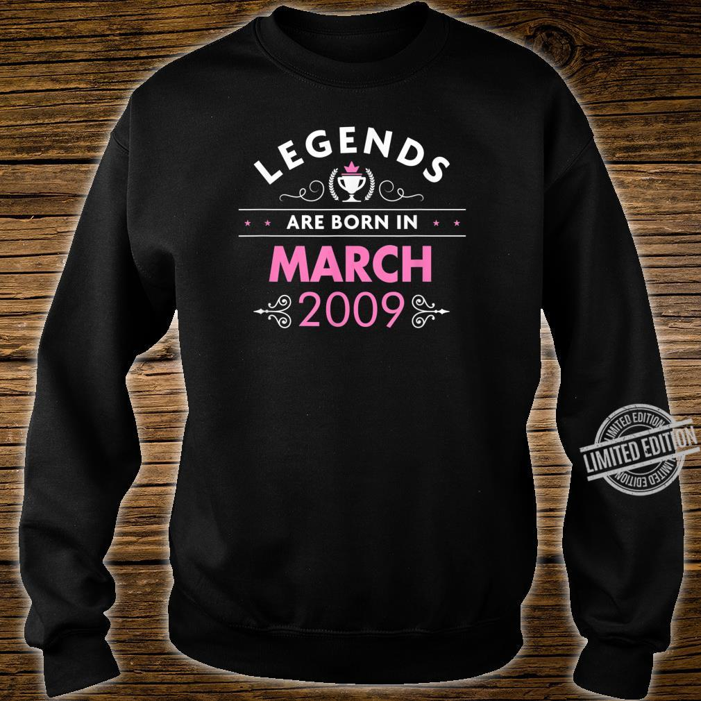 11th Birthday March 2009 The Legend Begins Shirt sweater