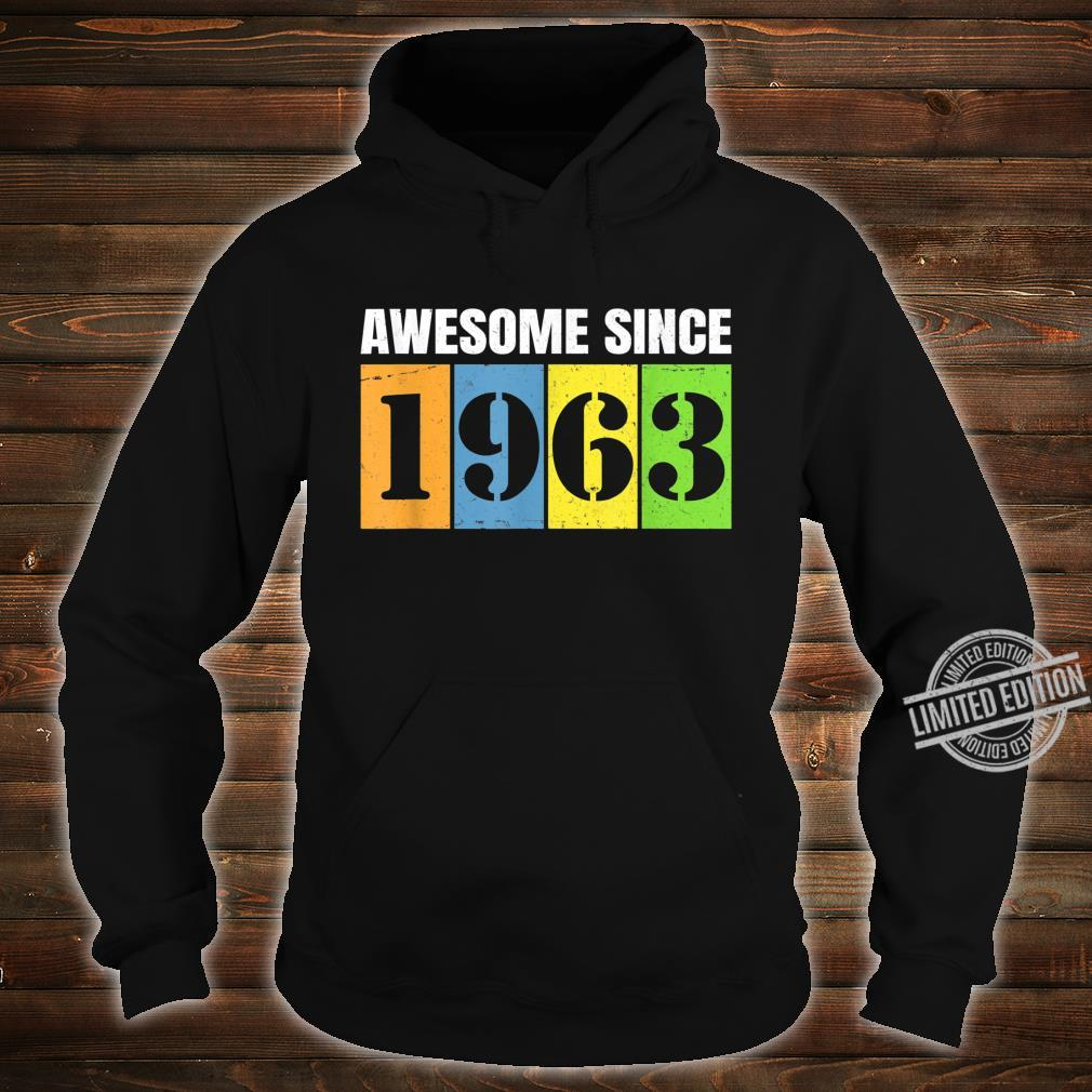 1963 57th Birthday Vintage Retro 57 Years Old Shirt hoodie