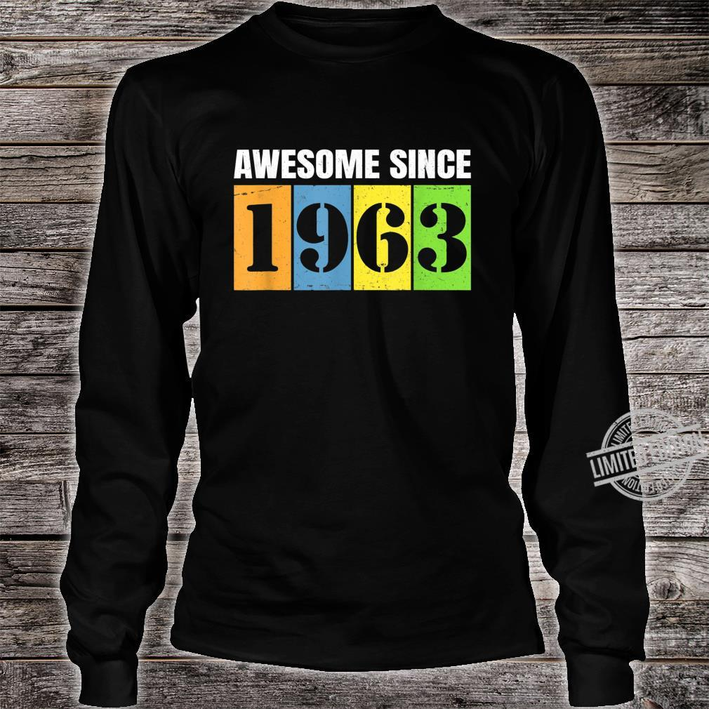 1963 57th Birthday Vintage Retro 57 Years Old Shirt long sleeved