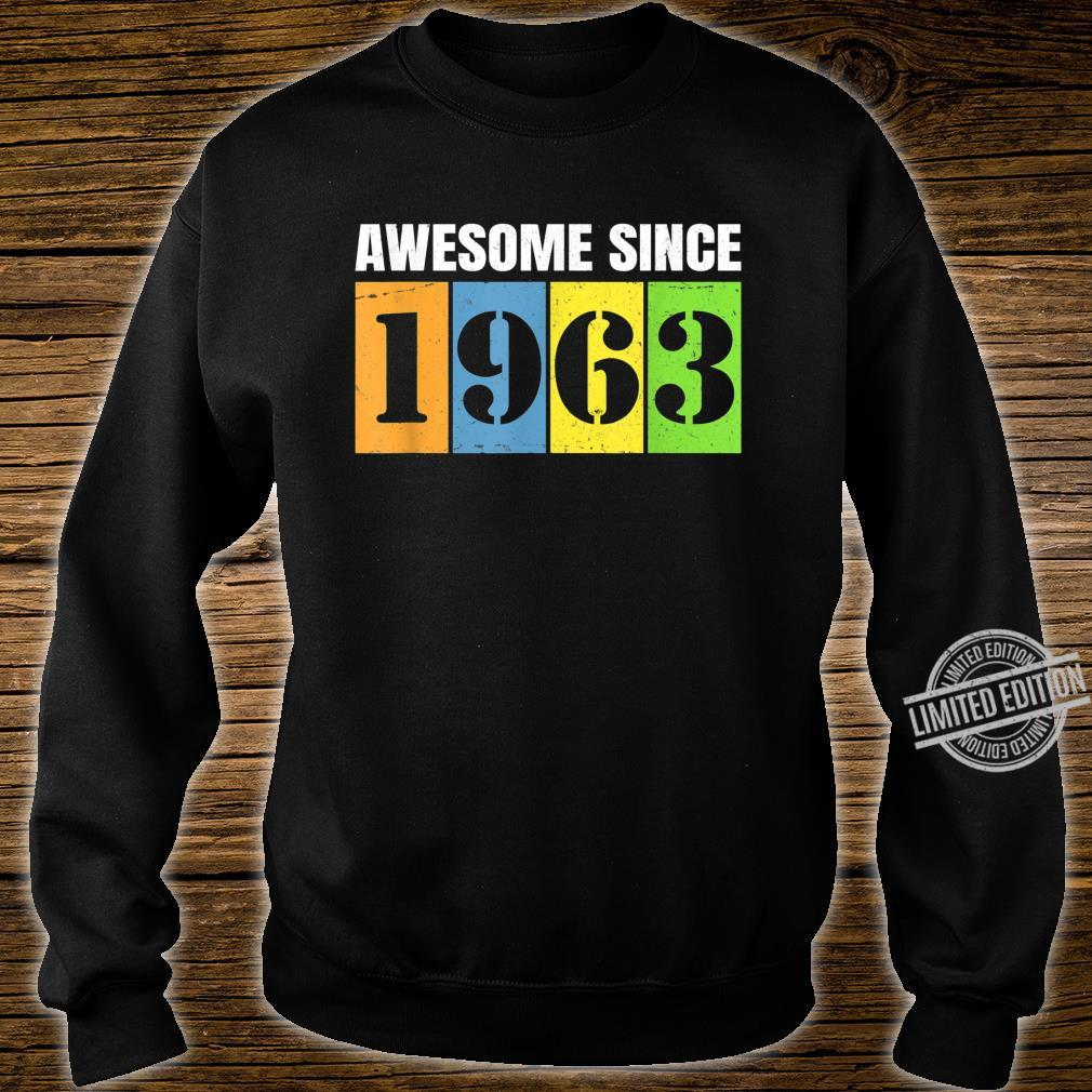 1963 57th Birthday Vintage Retro 57 Years Old Shirt sweater