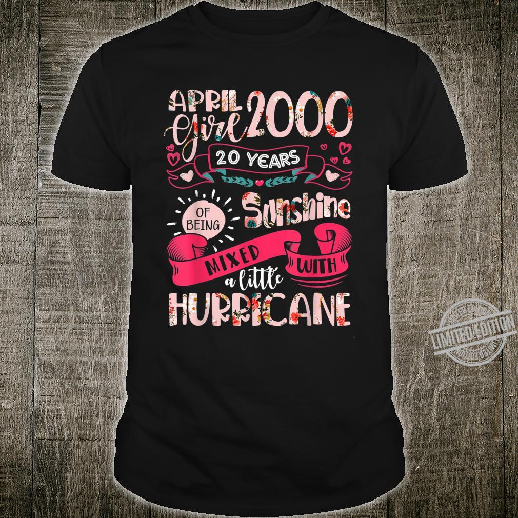 20th Birthday Awesome April 2000 Girl 20 Years Old Shirt