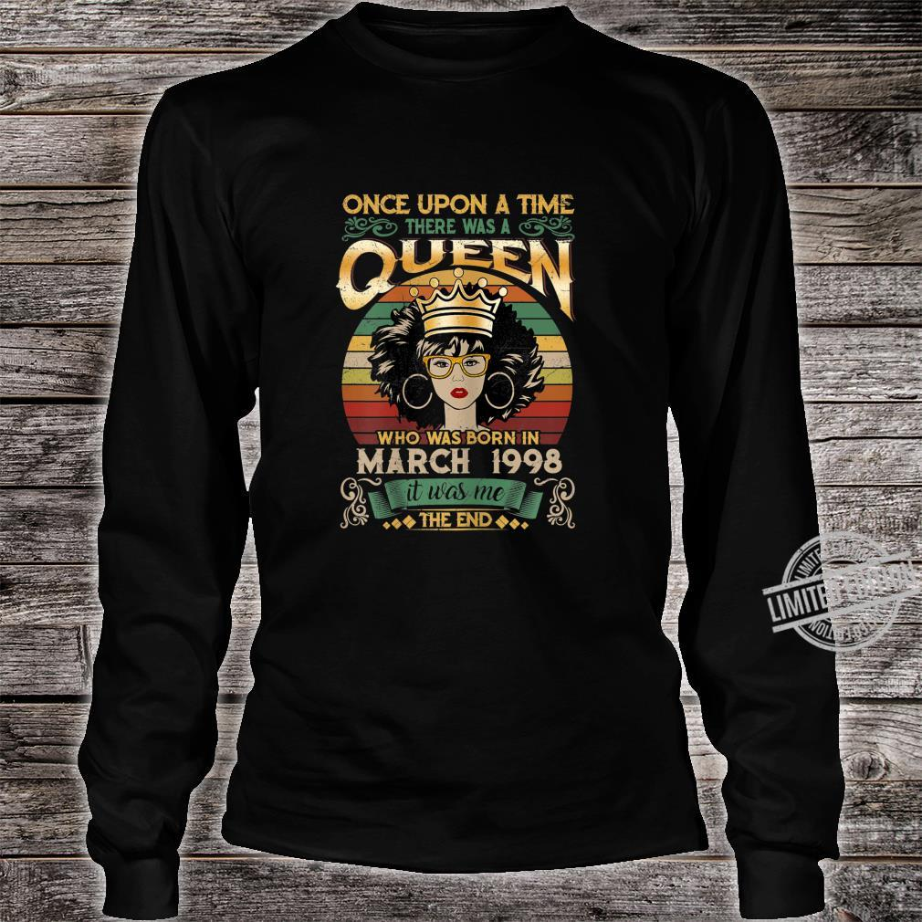 22 Year Old Birthday Girls 22nd Birthday Queen March 1998 Shirt long sleeved