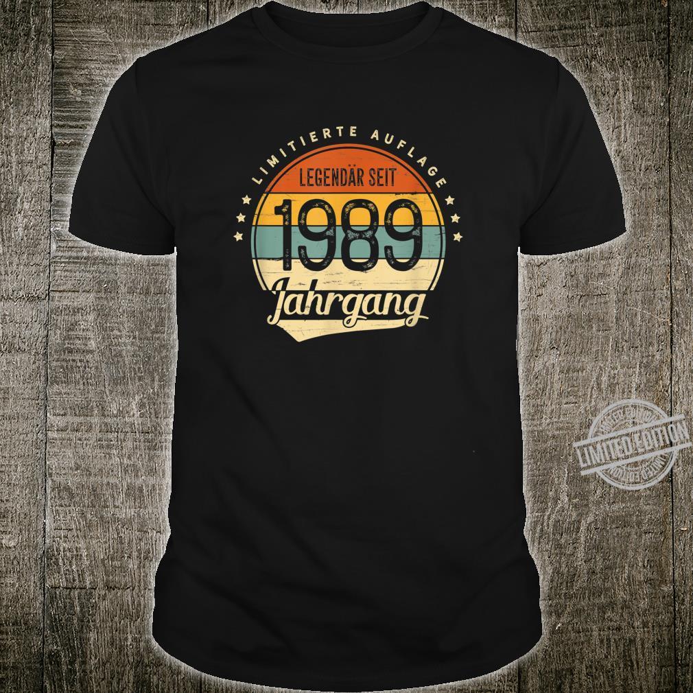 31 Geburtstag Mann Frau Geschenk Legendär Seit 1989 Jahrgang Shirt