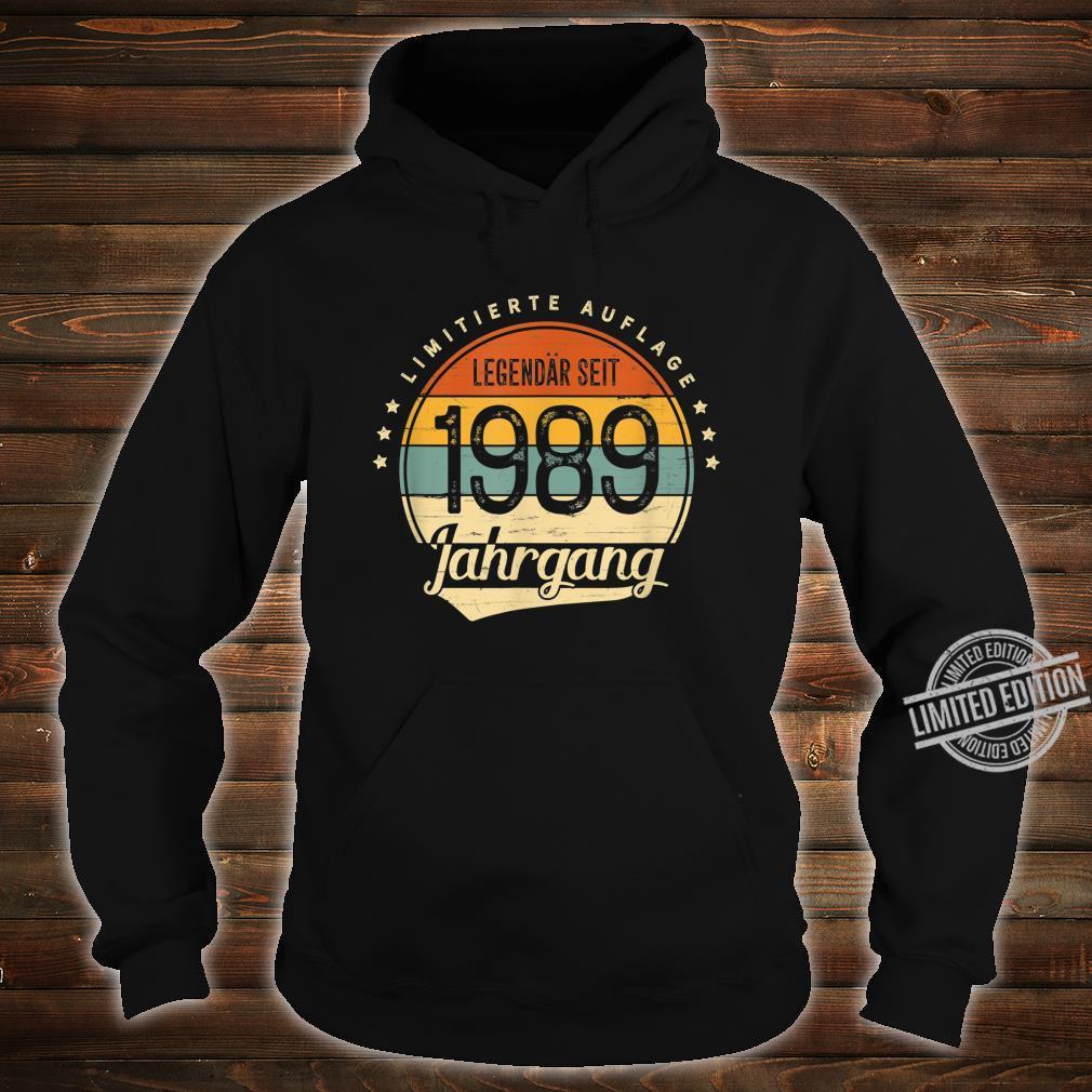 31 Geburtstag Mann Frau Geschenk Legendär Seit 1989 Jahrgang Shirt hoodie