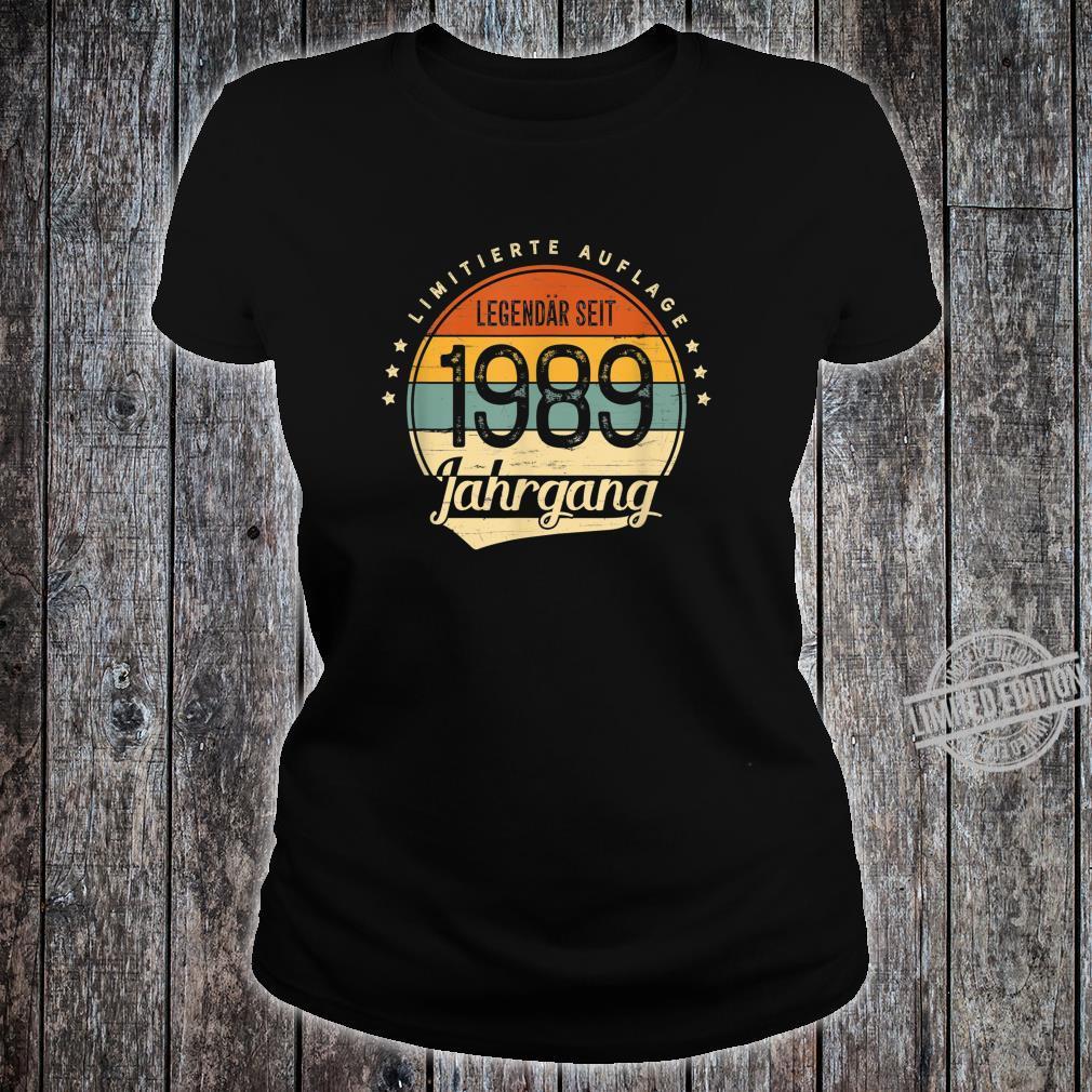 31 Geburtstag Mann Frau Geschenk Legendär Seit 1989 Jahrgang Shirt ladies tee