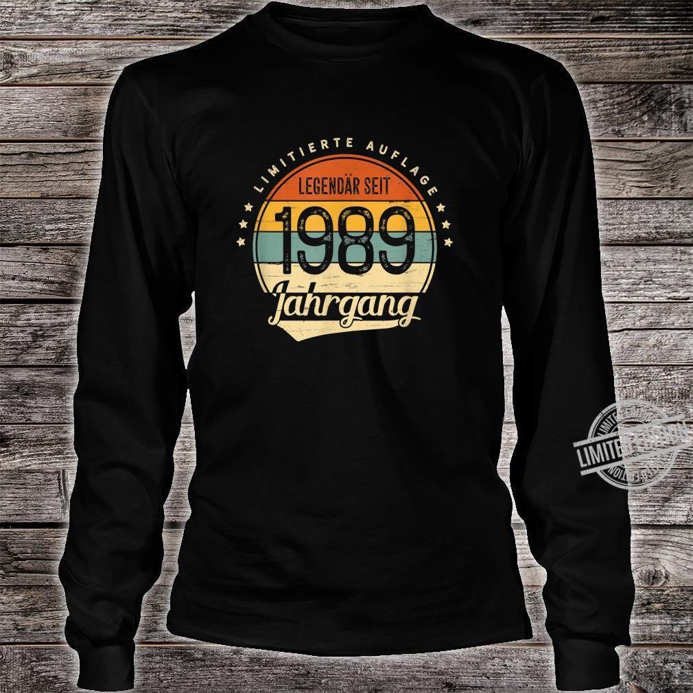 31 Geburtstag Mann Frau Geschenk Legendär Seit 1989 Jahrgang Shirt long sleeved