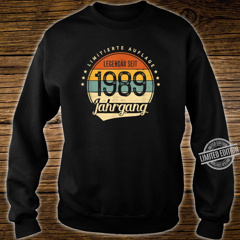 31 Geburtstag Mann Frau Geschenk Legendär Seit 1989 Jahrgang Shirt sweater