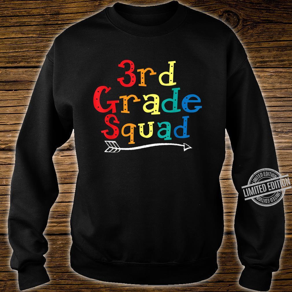 3rd Grade Squad Third Grade Teacher Student Shirt sweater