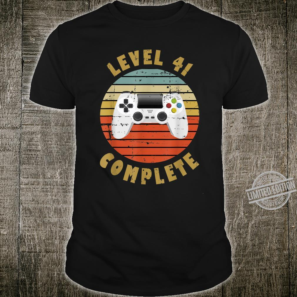 41st Birthday For Him and Her Level 41 Complete Shirt