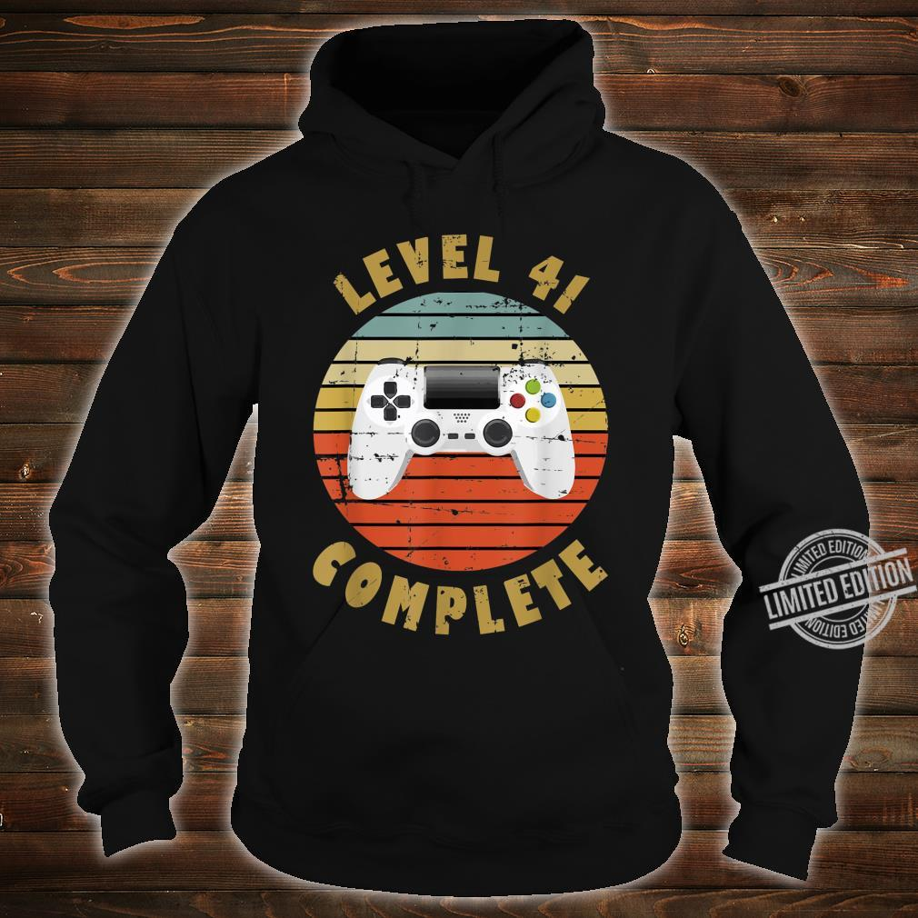 41st Birthday For Him and Her Level 41 Complete Shirt hoodie
