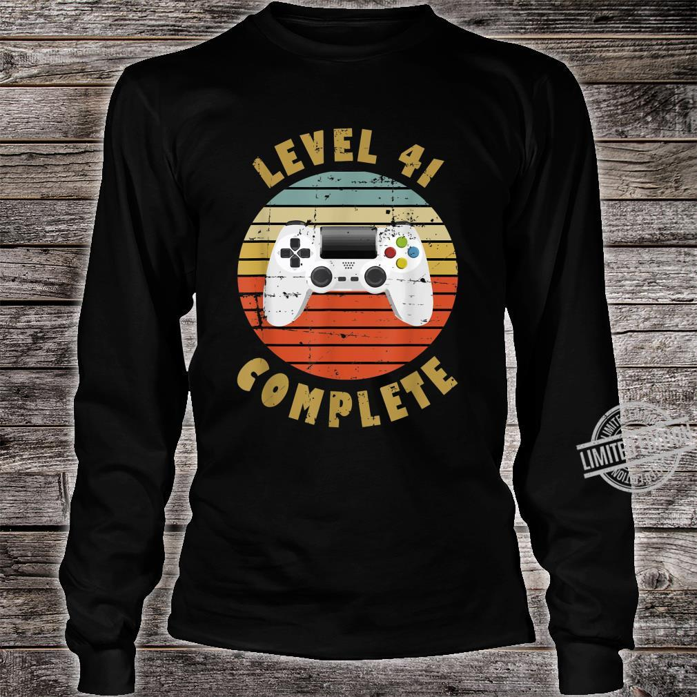 41st Birthday For Him and Her Level 41 Complete Shirt long sleeved