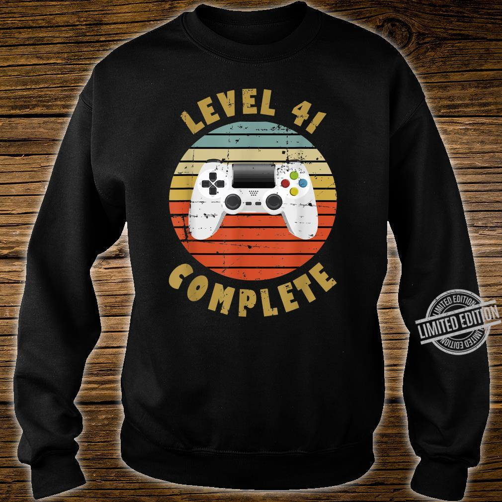 41st Birthday For Him and Her Level 41 Complete Shirt sweater