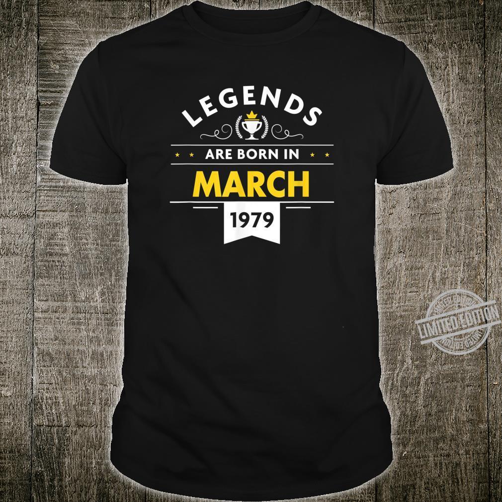 41st Birthday March 1979 The Legend Begins Shirt