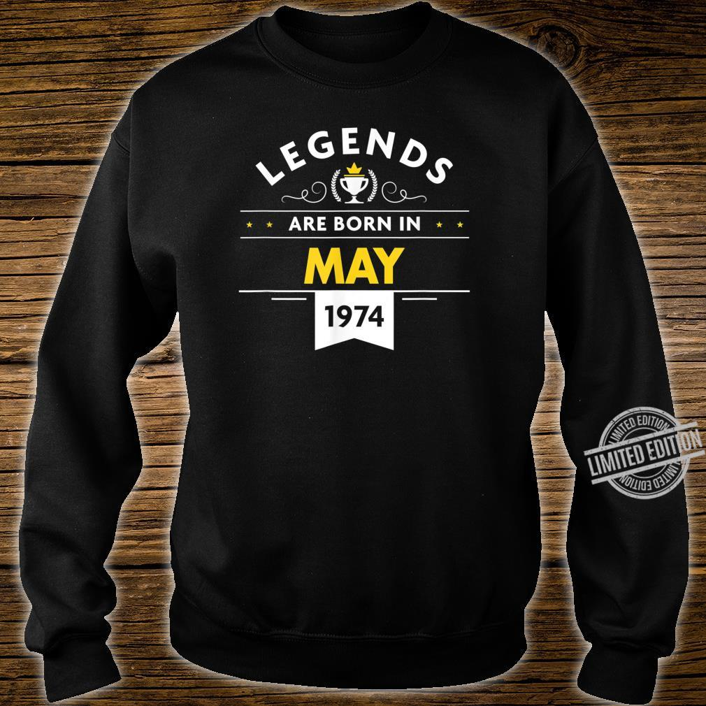 46th Birthday May 1974 The Legend Begins Shirt sweater