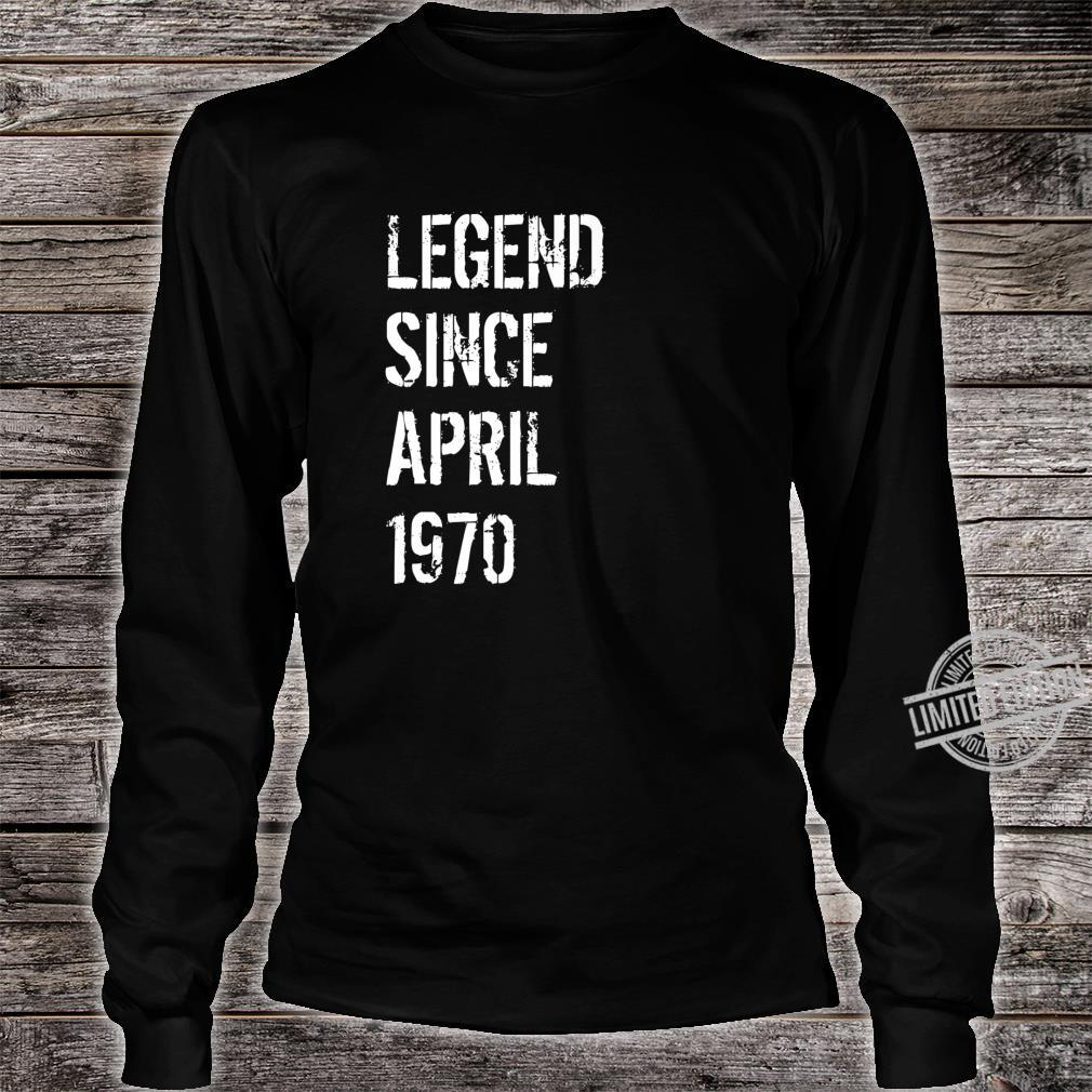 50 Year Old Birthday Born April 1970 Shirt long sleeved