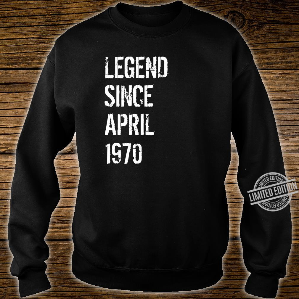 50 Year Old Birthday Born April 1970 Shirt sweater