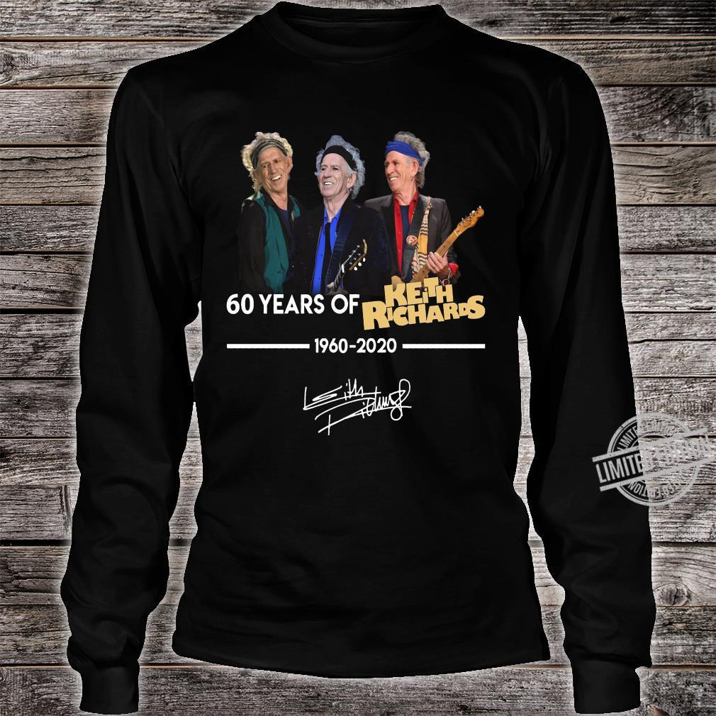 60 Years Of Keith Richards 1960-2020 Shirt long sleeved