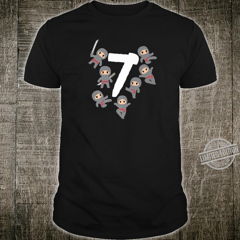7 Ninja bday birthday party 7 year old cute for Shirt