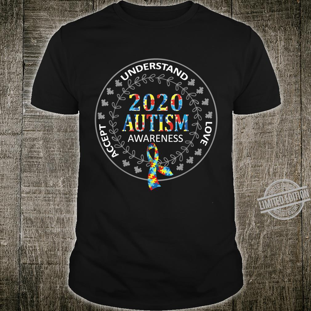 Accept Understand Love 2020 Autism Awareness Day Month Shirt