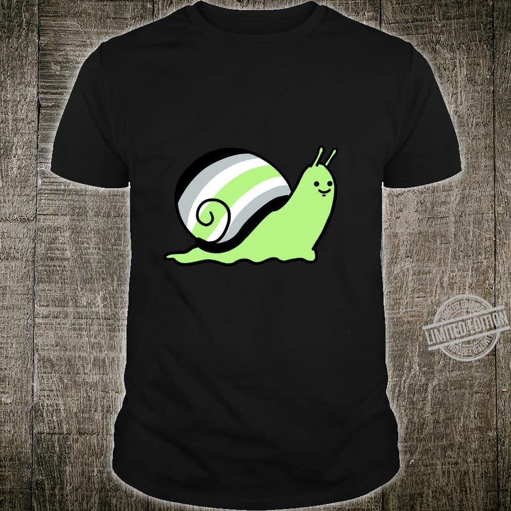 Asexual Snail Asexual Pride Shirt