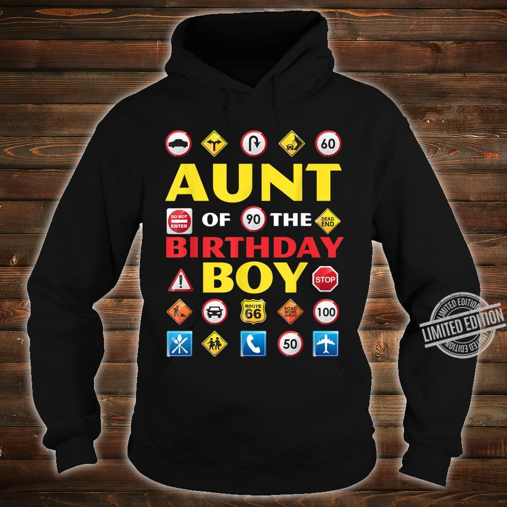 Aunt of the Birthday Boy Matching Construction Crew Party Shirt hoodie
