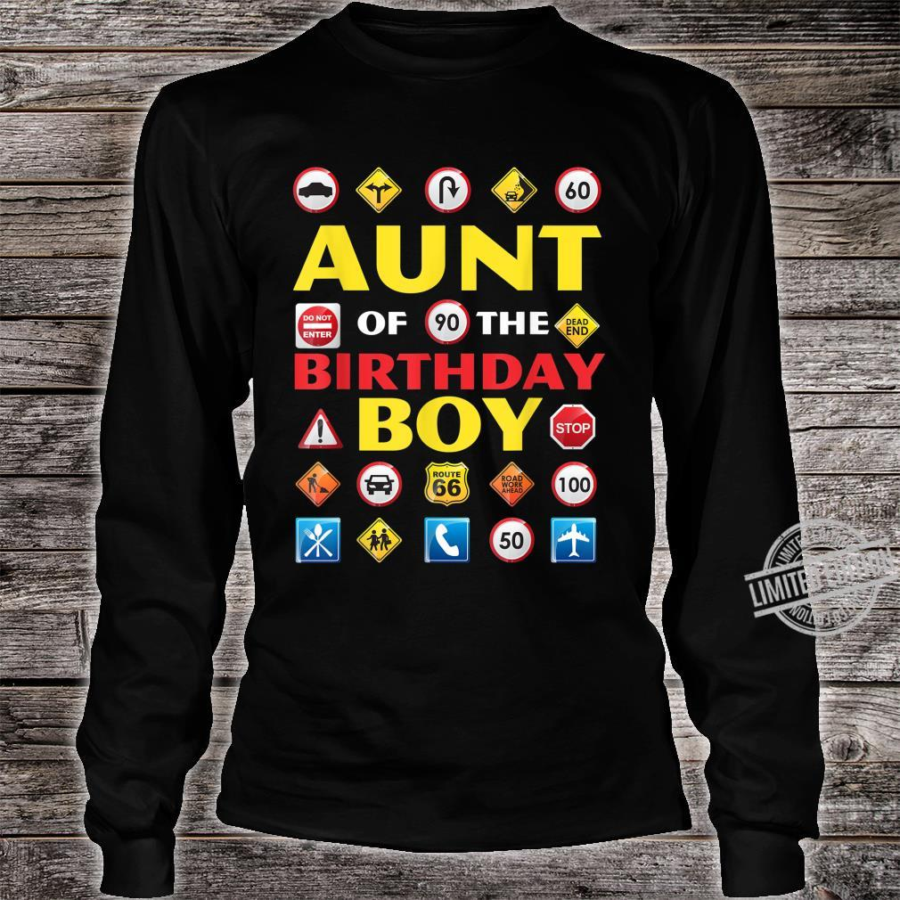 Aunt of the Birthday Boy Matching Construction Crew Party Shirt long sleeved