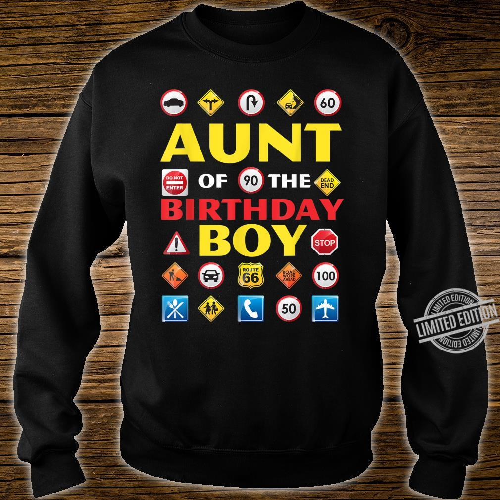 Aunt of the Birthday Boy Matching Construction Crew Party Shirt sweater