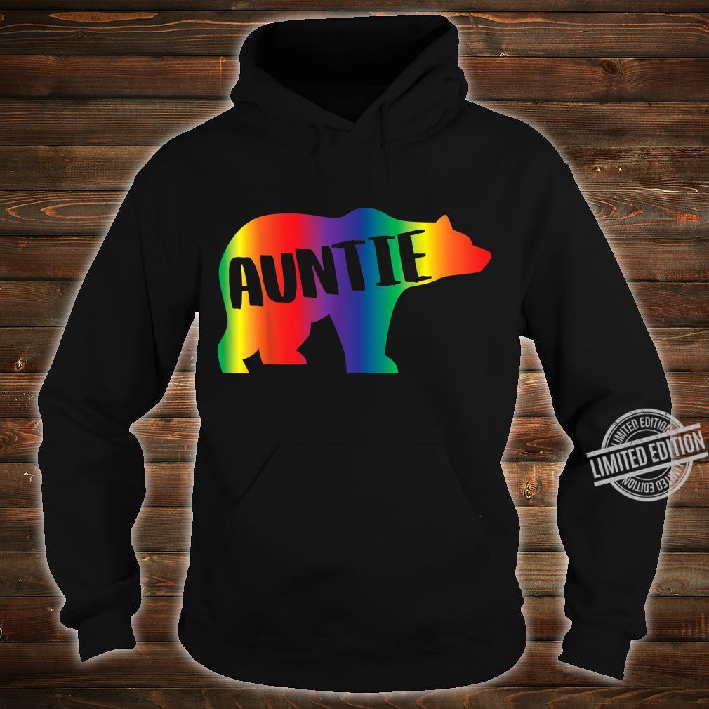 Auntie Bear Equality Pride Lesbian LGBT Rainbow Flag Shirt hoodie