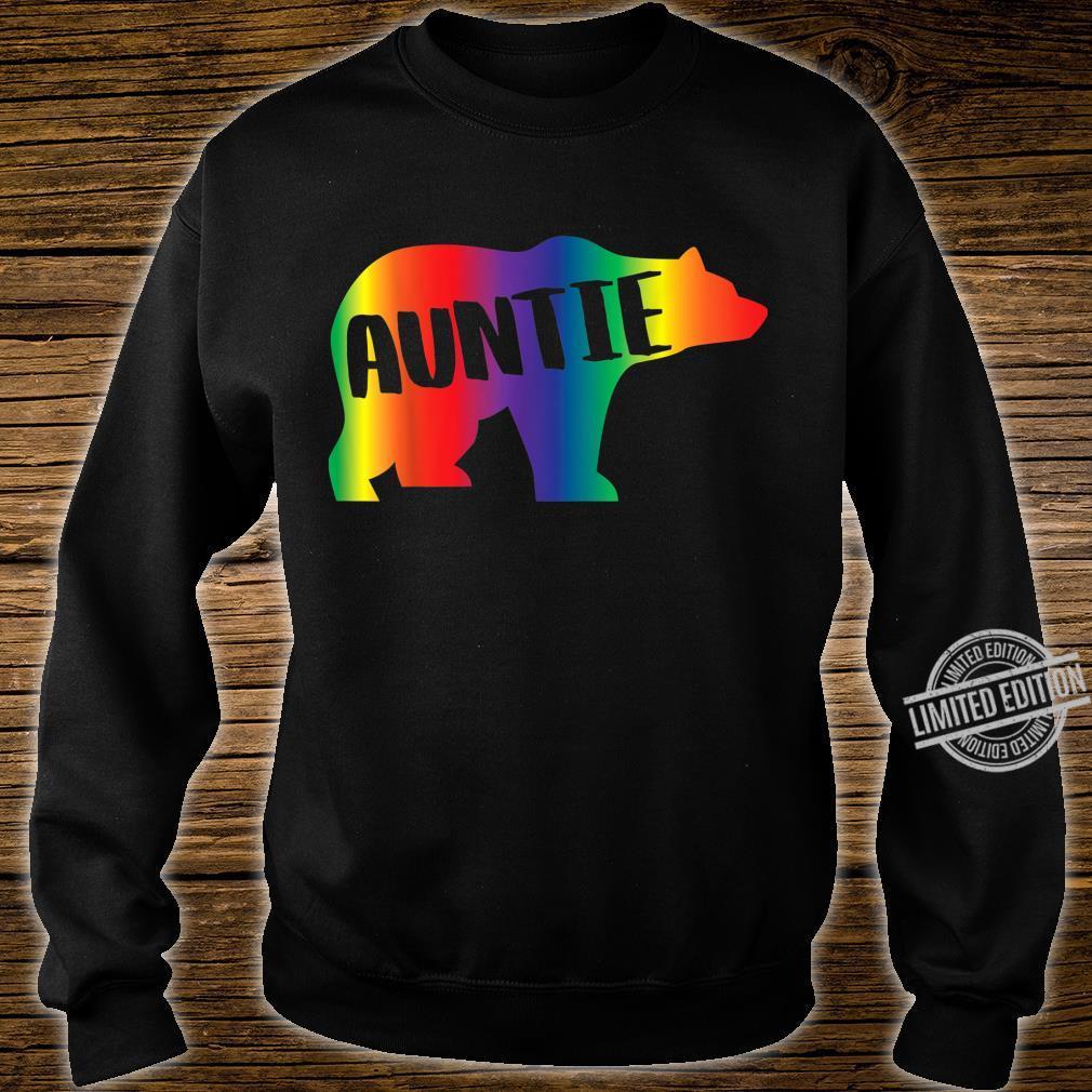 Auntie Bear Equality Pride Lesbian LGBT Rainbow Flag Shirt sweater