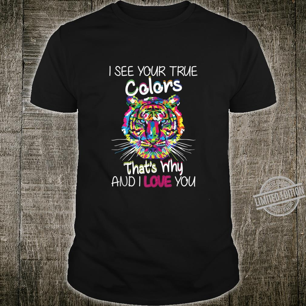 Autism Awareness It's OK to be different Colorful Tiger Shirt