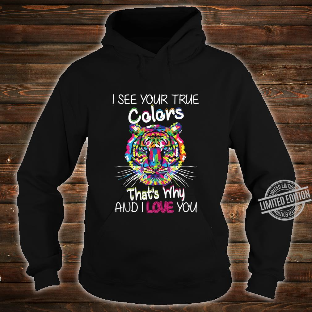 Autism Awareness It's OK to be different Colorful Tiger Shirt hoodie