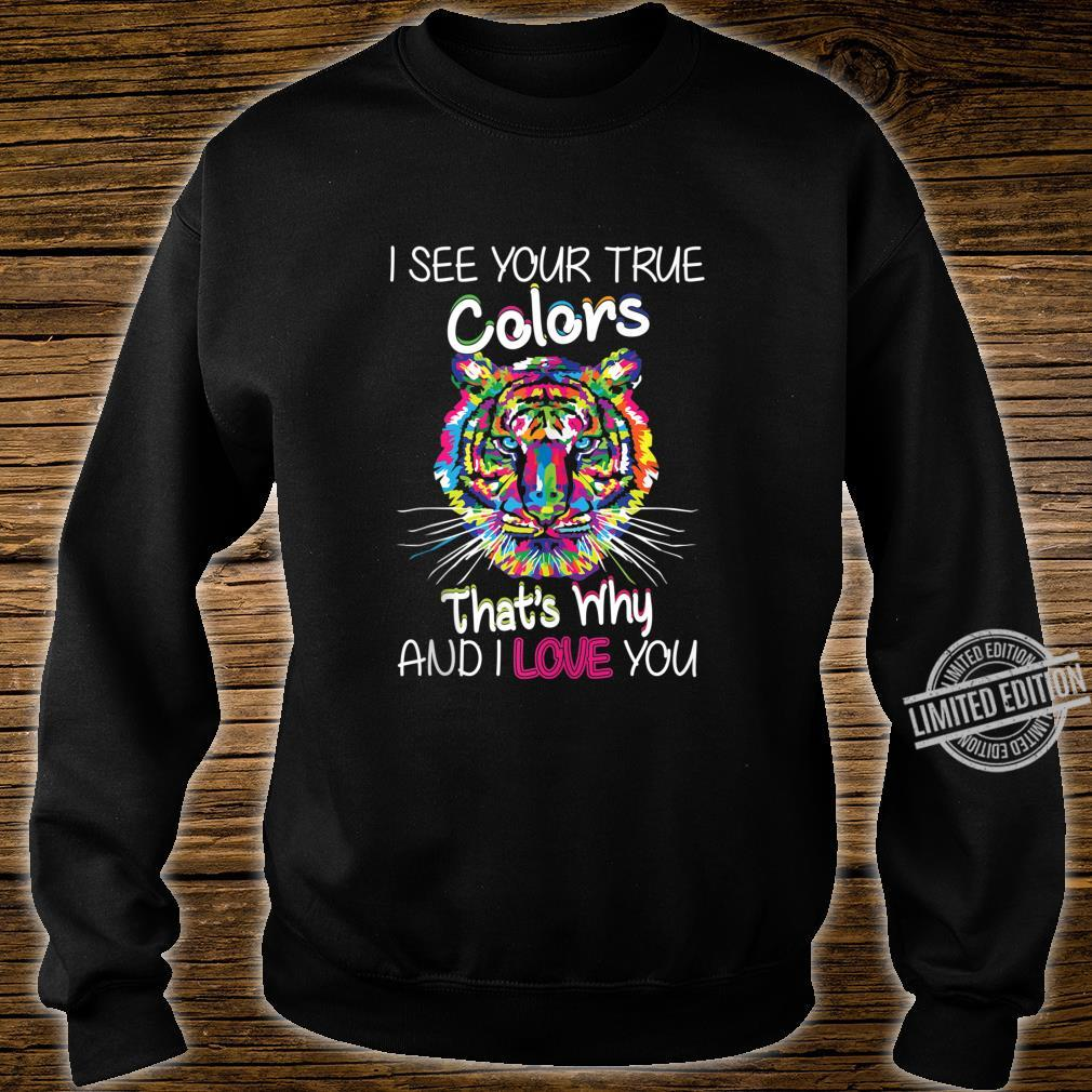 Autism Awareness It's OK to be different Colorful Tiger Shirt sweater