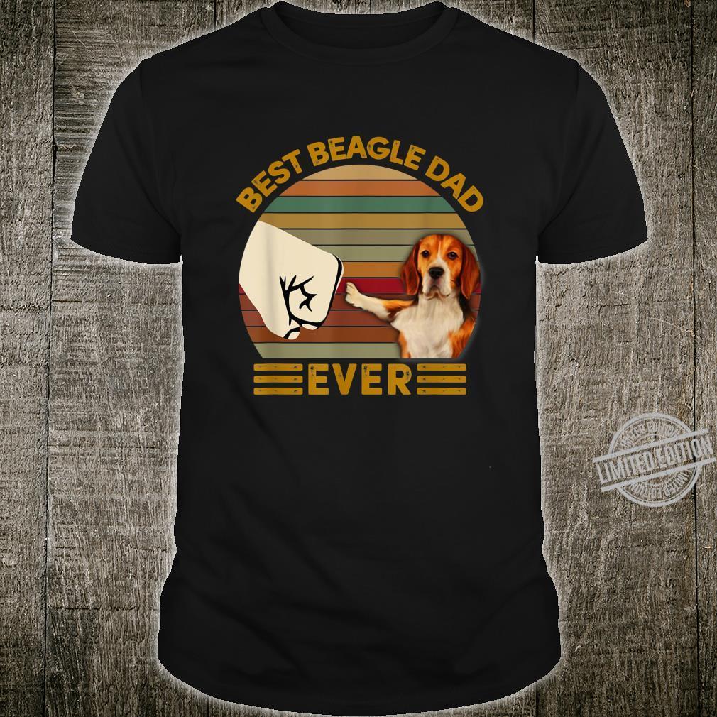 BEST beagle DAD EVER Bump fist Vintage Shirt