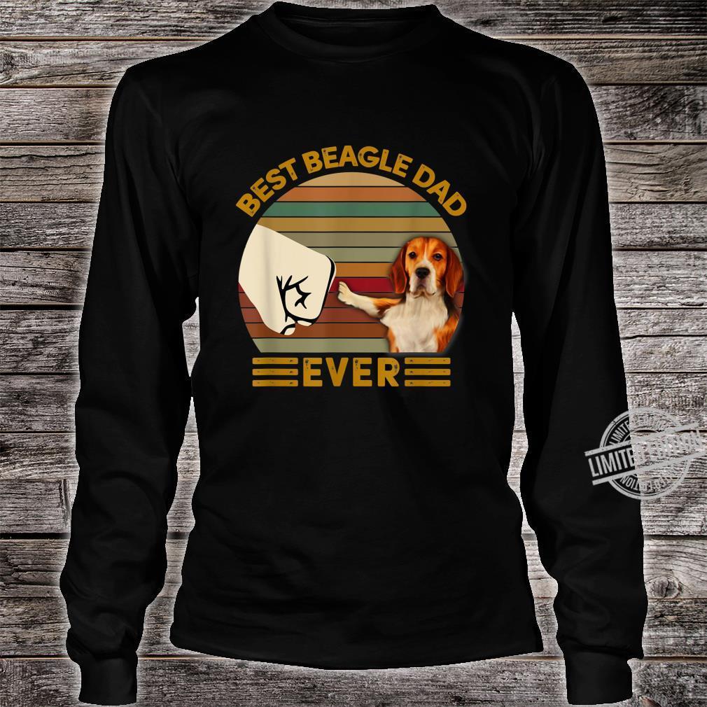 BEST beagle DAD EVER Bump fist Vintage Shirt long sleeved