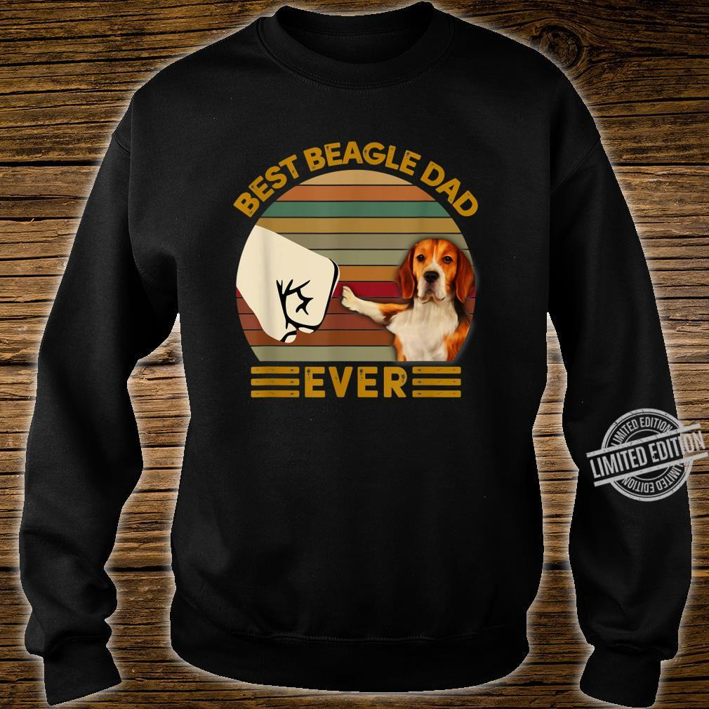 BEST beagle DAD EVER Bump fist Vintage Shirt sweater