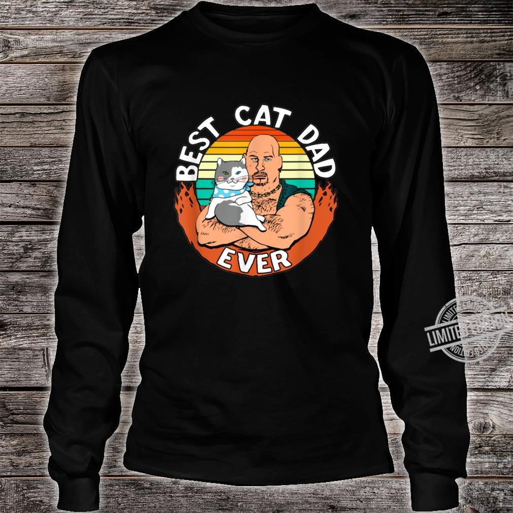 Best Cat Dad Ever Cat Dad Father Vintage Shirt long sleeved