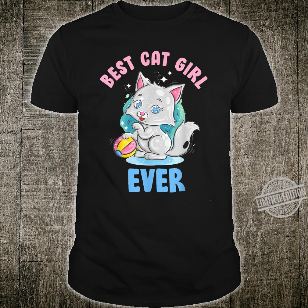 Best Cat Girl Ever shirt kitty Cute Cat Birthday Shirt