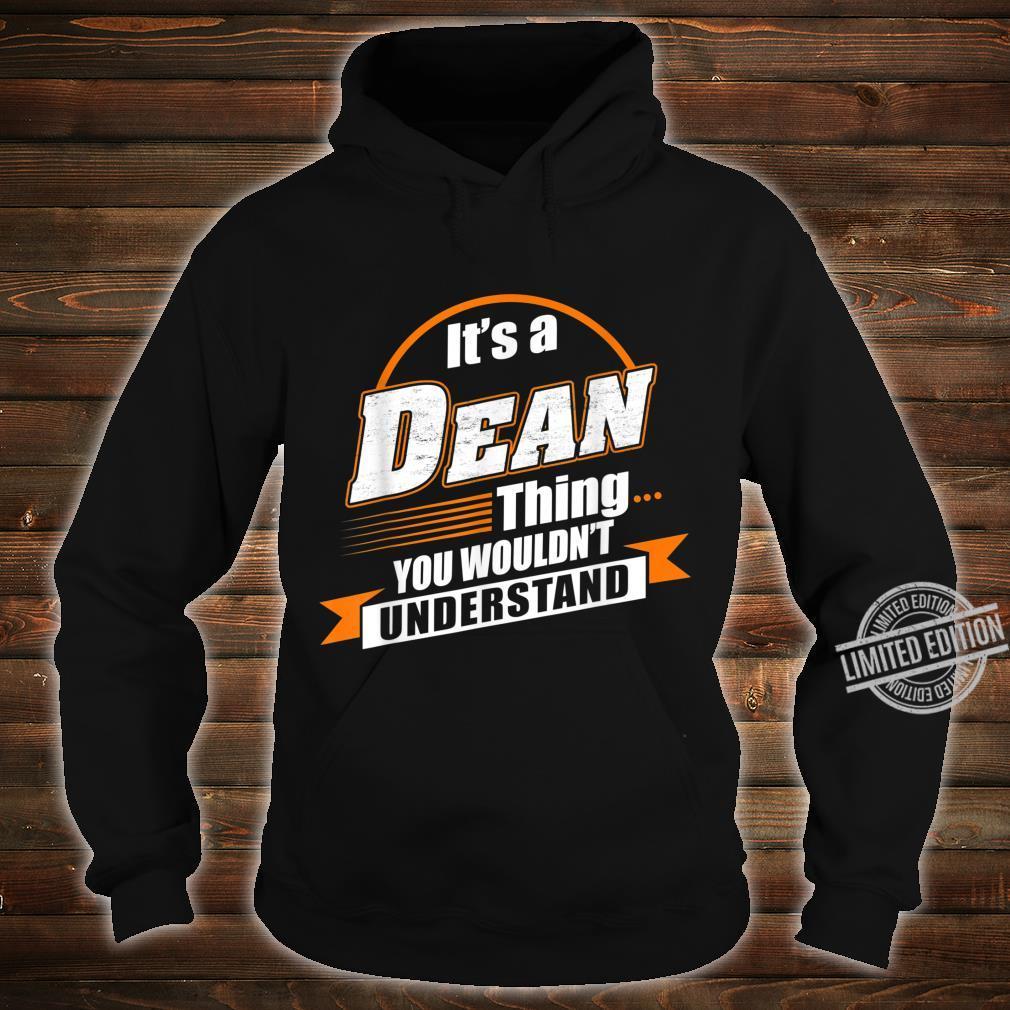 Best For Dean Dean Named Shirt hoodie