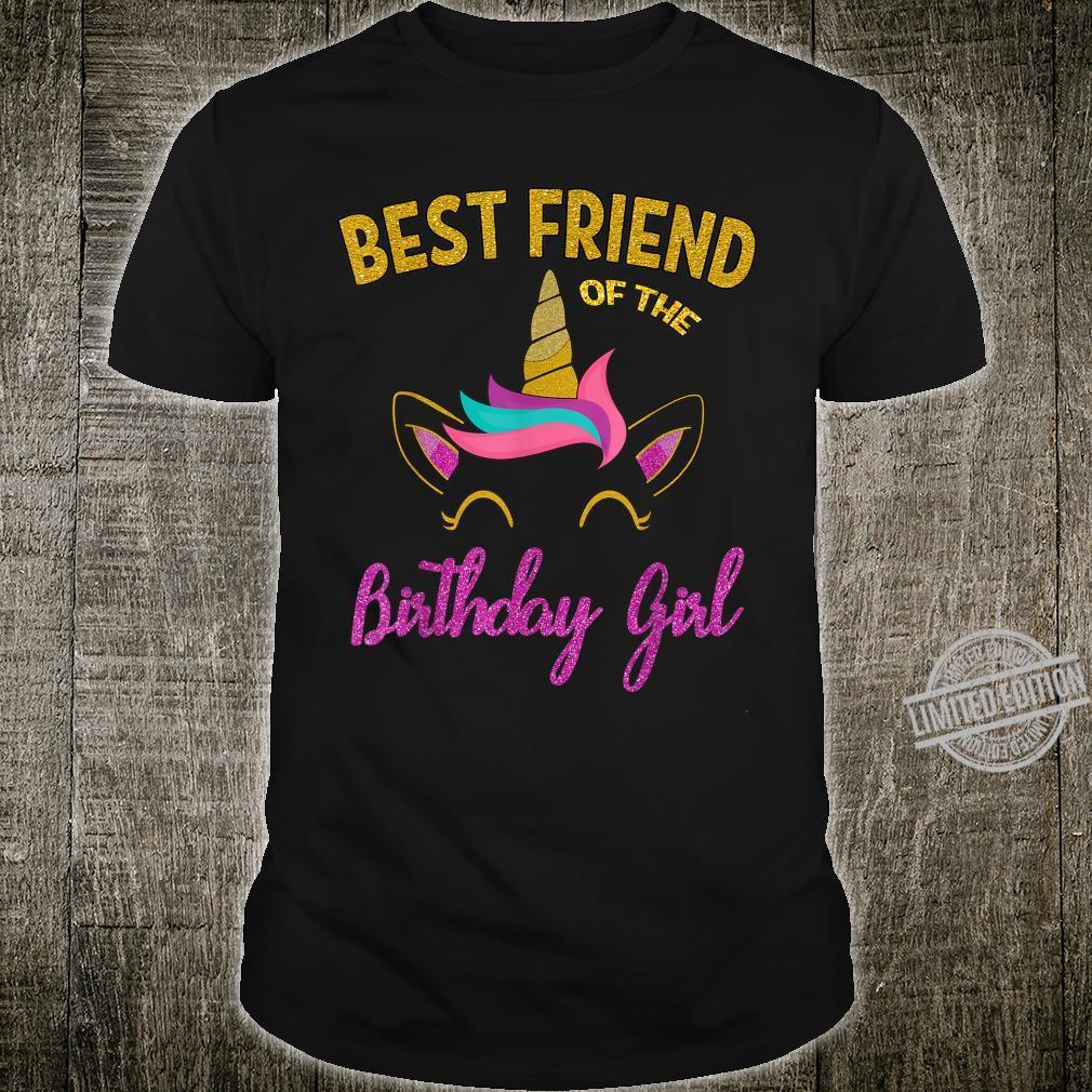 Best Friend of the Unicorn Birthday Girl Shirt Matching Shirt