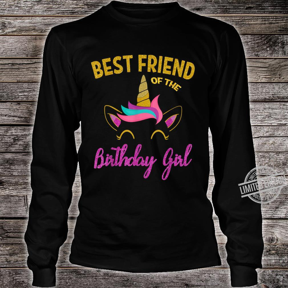 Best Friend of the Unicorn Birthday Girl Shirt Matching Shirt long sleeved