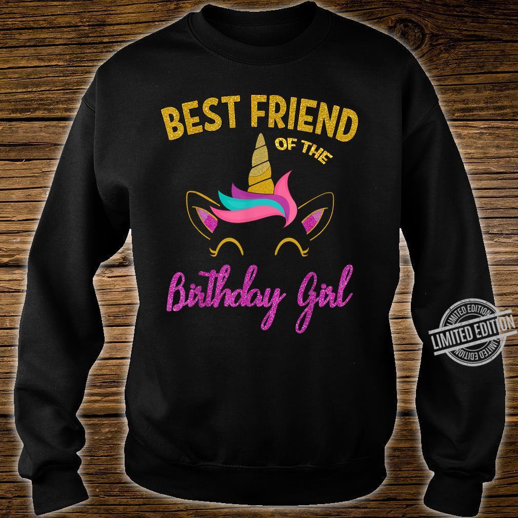 Best Friend of the Unicorn Birthday Girl Shirt Matching Shirt sweater