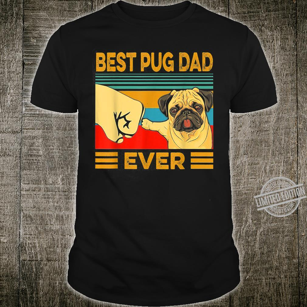 Best Pug Dad Ever Retro Vintage Shirt