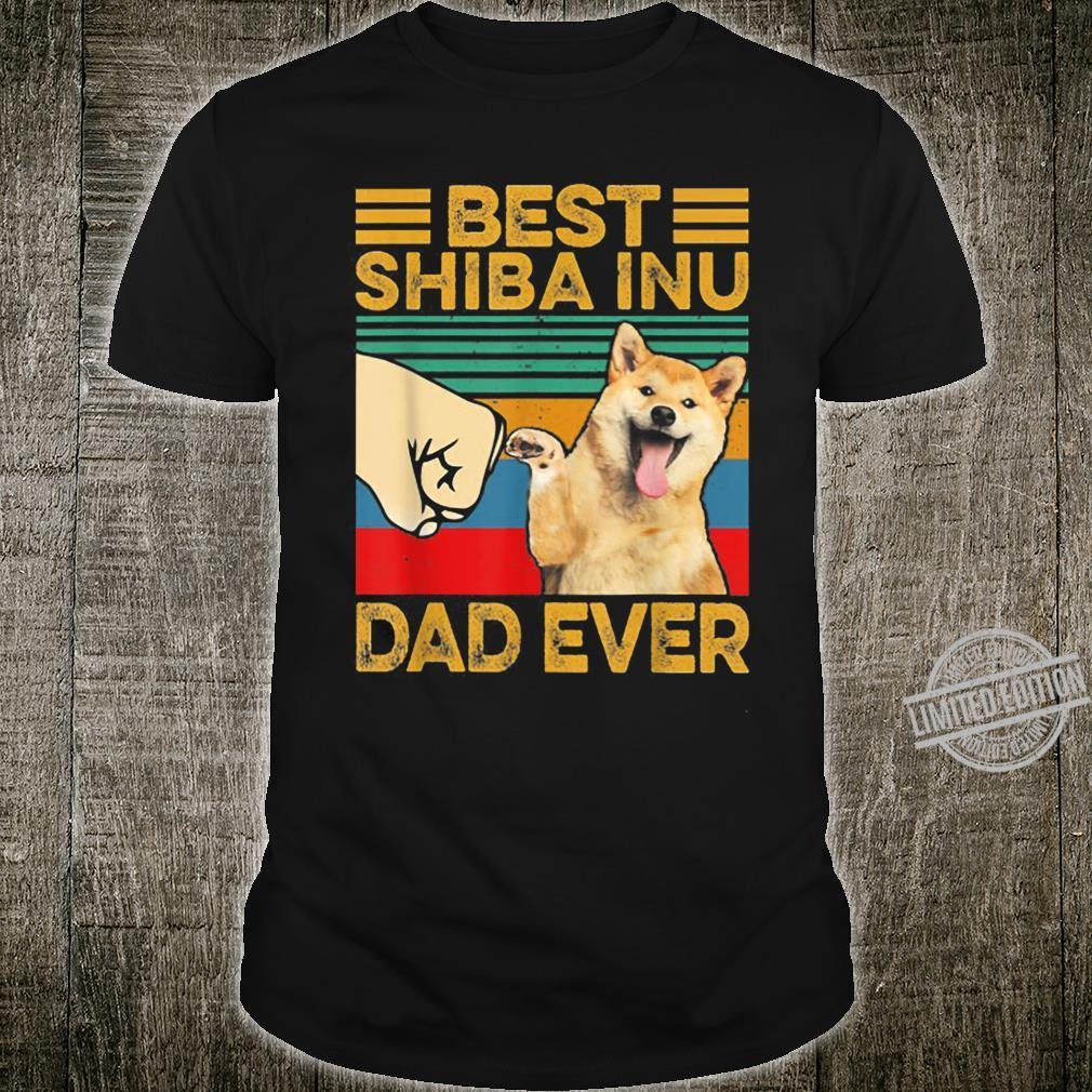 Best Shiba Inu Dad Ever Retro Vintage Shirt