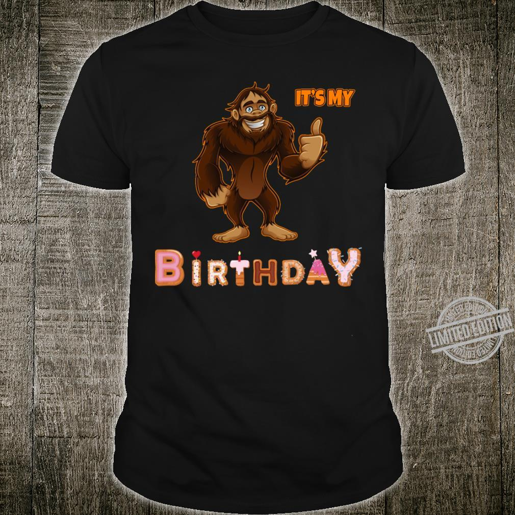Bigfoot Birthday Cake Balloons Shirt